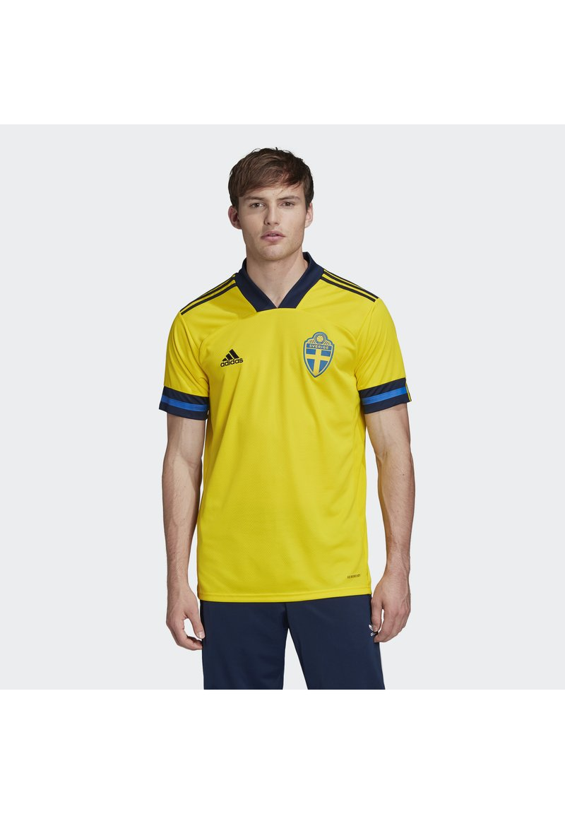 adidas Performance - SWEDEN SVFF HOME JERSEY - Landsholdstrøjer - yellow/indigo