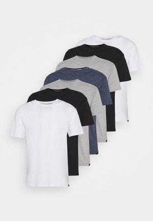 MULTI TEE MARLS 7 PACK - T-shirt basique - black/white/grey/blue