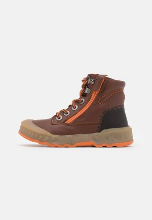 KICK REBEL - Lace-up ankle boots - camel/orange