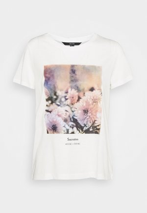 VMNELLFRANCIS BOX - Print T-shirt - snow white
