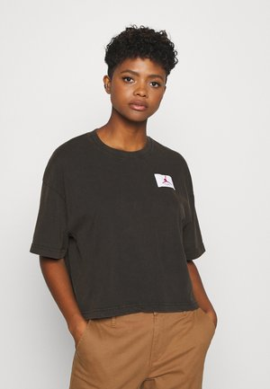 ESSENTIAL BOXY TEE - T-shirt con stampa - black