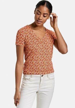 T-shirt print - papaya gemustert