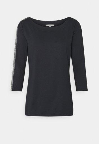 ECOV LUREX  - Long sleeved top - black