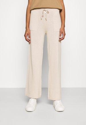 PANTS WIDE LEG - Broek - beige