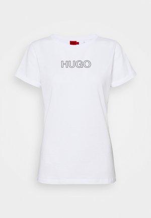 THE SLIM TEE - T-shirt imprimé - white