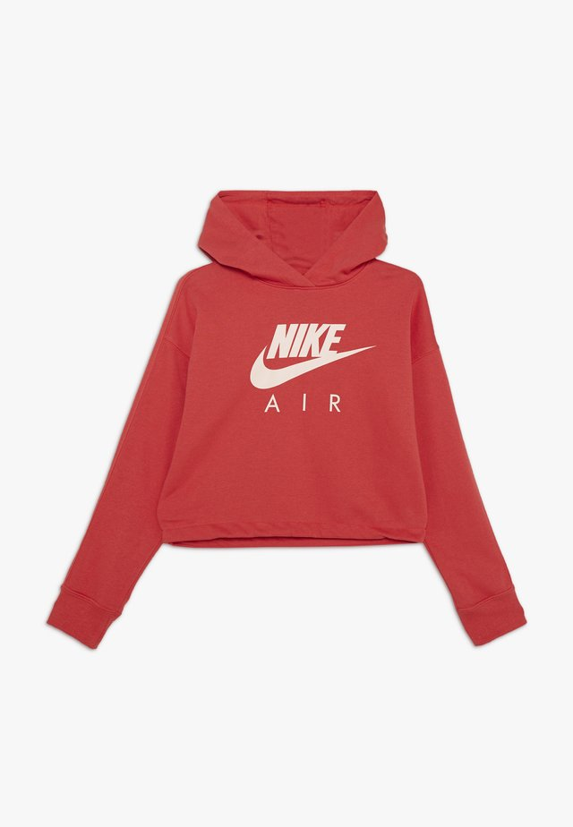 NIKE AIR CROP HOODIE - Jersey con capucha - track red/washed coral
