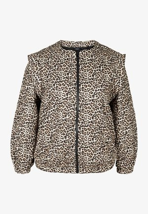 MIT PRINT - Giubbotto Bomber - oyster grey aop