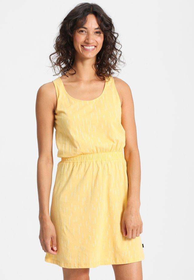 JUNA - Jersey dress - yellow