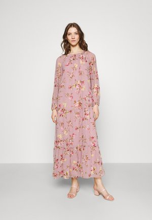 VOLUME FLORAL GOWN - Day dress - rose