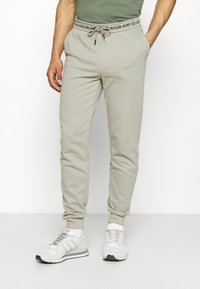 Calvin Klein Jeans - LOGO PANT - Verryttelyhousut - elephant skin - 0