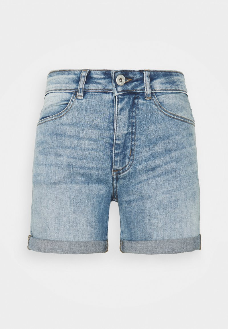 ICHI PETITE - IHTWIGGY - Denim shorts - light blue