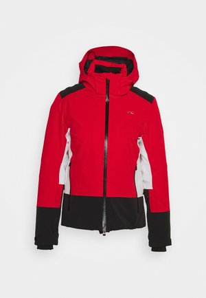 WOMEN LAINA JACKET - Kurtka narciarska - fiery red/black