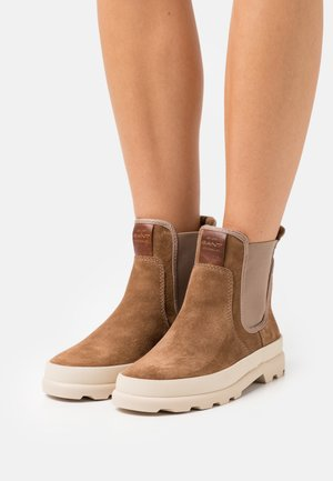 FRENNY - Platform ankle boots - brown