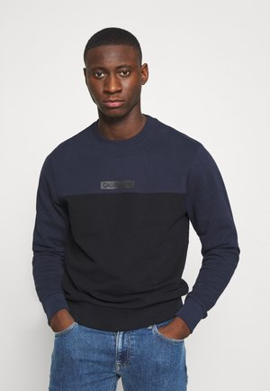 COLOR BLOCK - Sweatshirt - blue