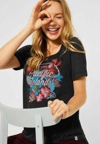 Cecil - Print T-shirt - grau - 2