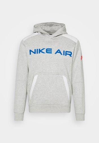 AIR HOODIE - Hoodie - grey heather/summit white/infrared 23