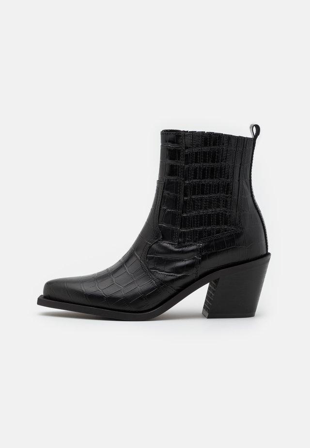 PSSANTIAGO BOOT - Kovbojské/motorkářské boty - black