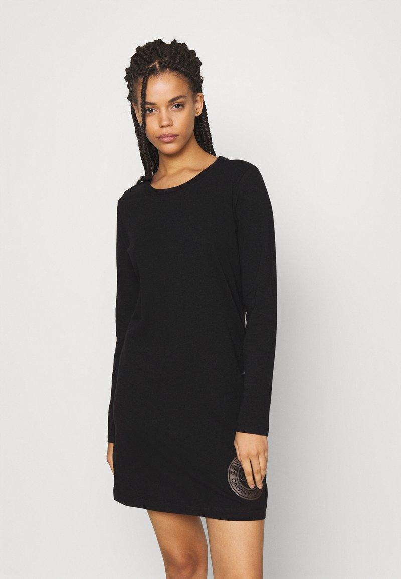 Calvin Klein Underwear - ICONIC LOUNGE NIGHTSHIRT - Nightie - black