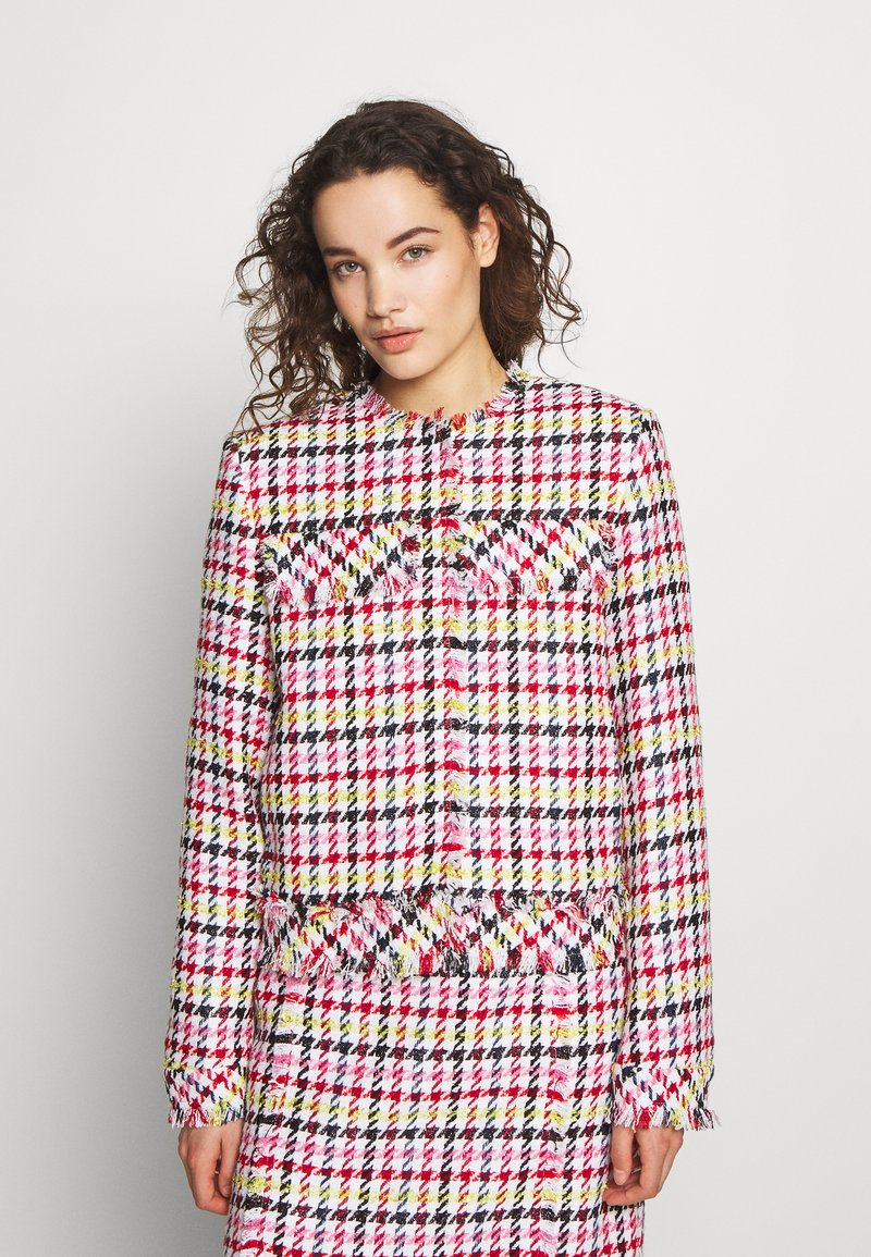 KARL LAGERFELD - HOUNDSTOOTH BOUCLE JACKET - Blazer - pink