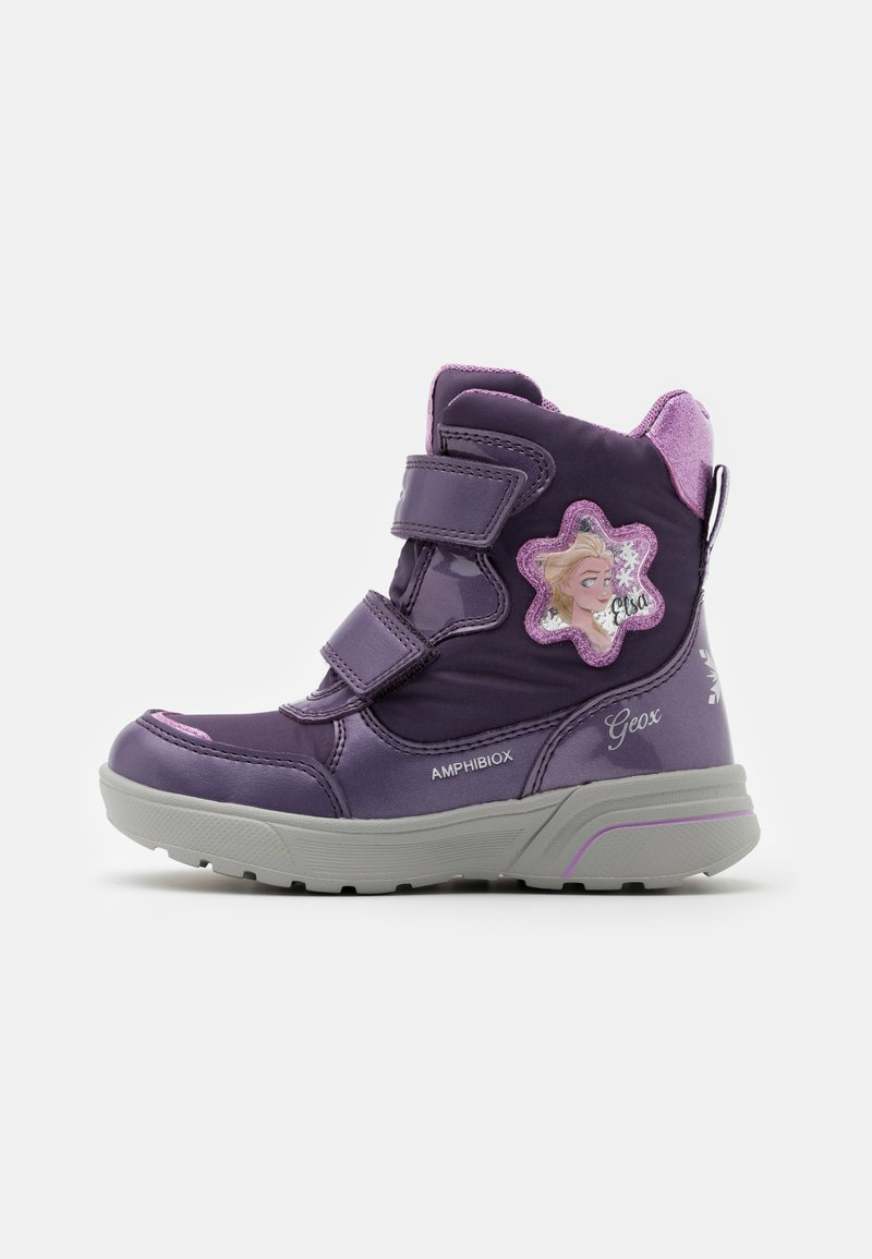 Geox - DISNEY FROZEN SVEGGEN GIRL ABX  - Winter boots - dark violet/mauve