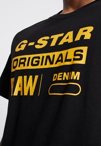 G-Star - GRAPHIC LOGO - Camiseta estampada - dark black - 4