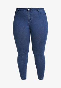 Missguided Plus - ANARCHY MID RISE - Jeans Skinny Fit - indigo - 4