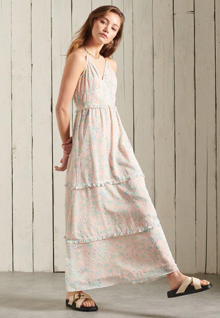 Superdry - MARGAUX - Maxi dress - peach daisy
