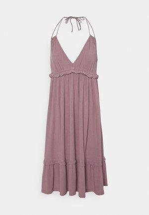 VIMESA HALTERNECK SHORT DRESS - Day dress - elderberry