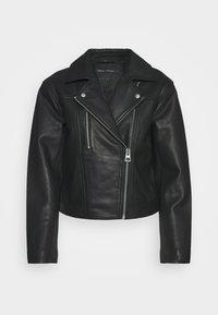 Marc O'Polo - JACKET BIKER STYLE SHORT LENGTH DROPPED SHOULDER - Leather jacket - black - 4