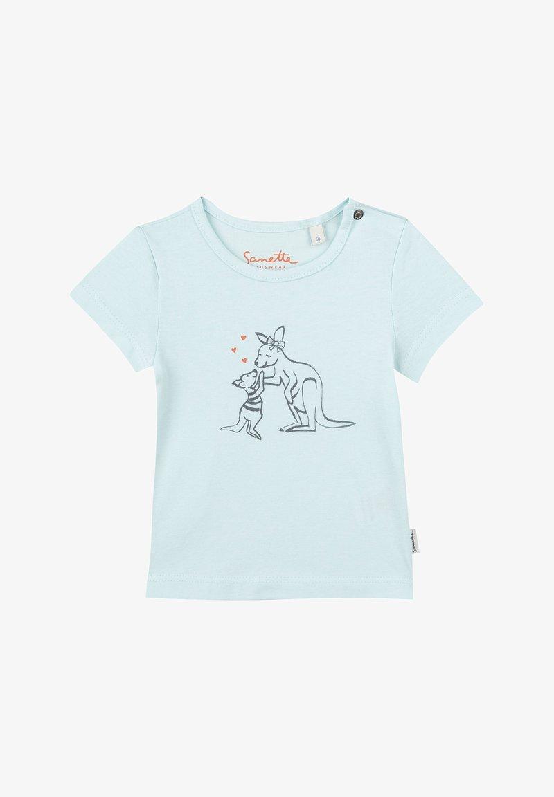 Sanetta Kidswear - Print T-shirt - hellblau