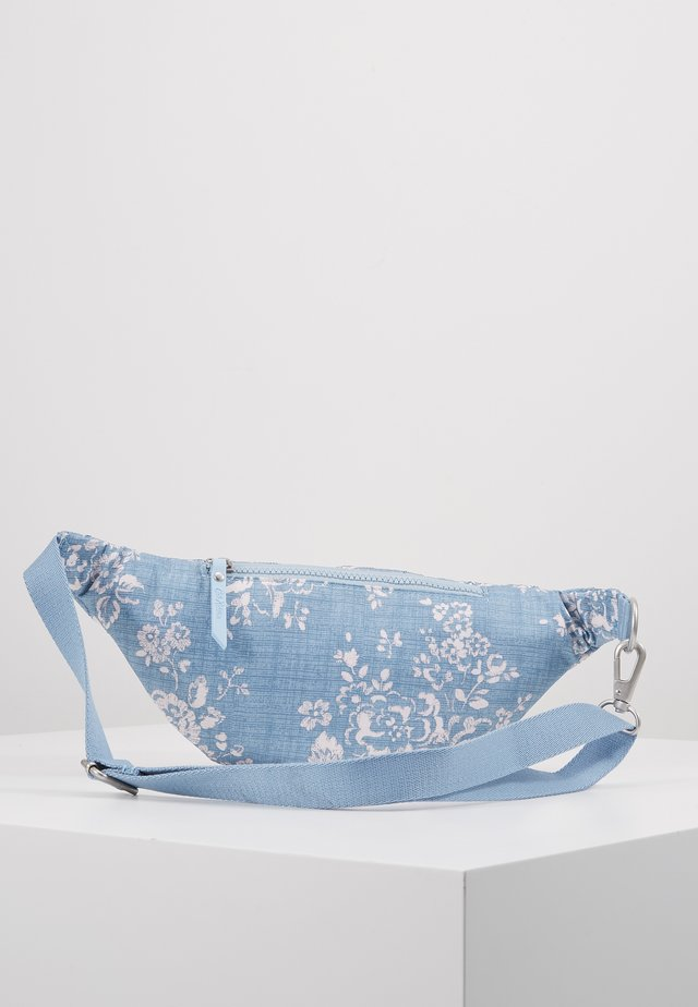EMBROIDERED BUMBAG - Saszetka nerka - blue