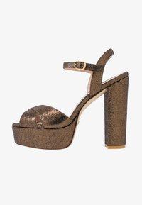 SOLIESSE - High heeled sandals - bronze