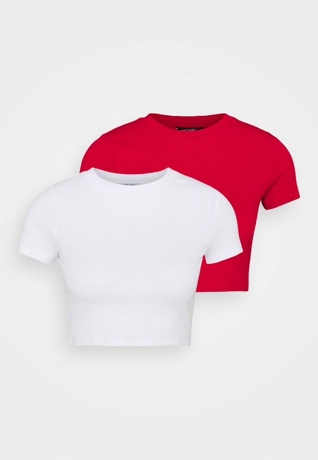 KARO 2 PACK - T-shirt med print - red/white