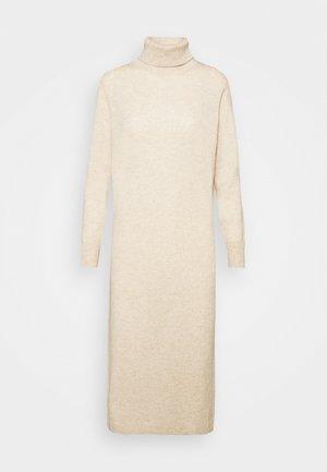 TURTLENECK DRESS - Maxi-jurk - oatmeal