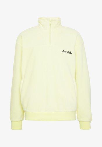 UNISEX LOOSE ZIPPED - Zip-up sweatshirt - yellow