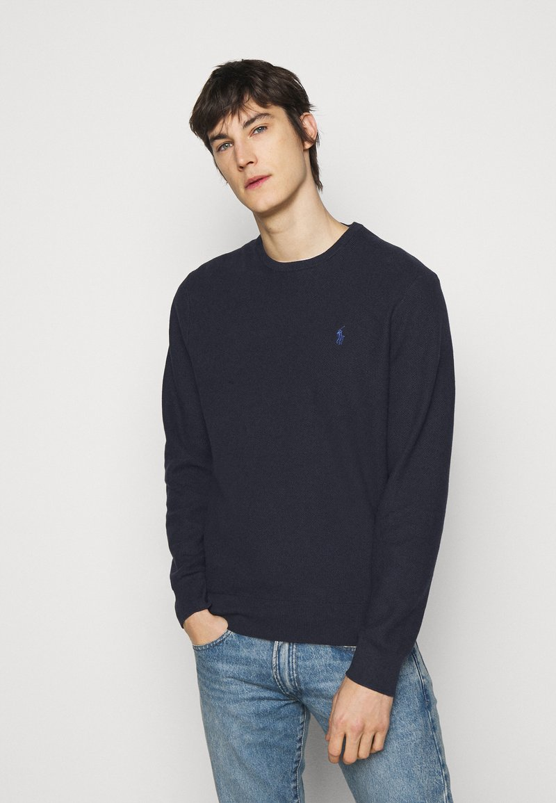 Polo Ralph Lauren - LONG SLEEVE - Stickad tröja - navy heather