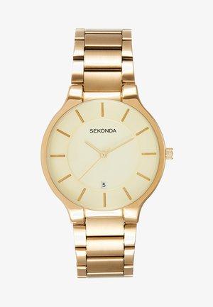 GENTS WATCH ROUND CASE - Watch - gold-coloured