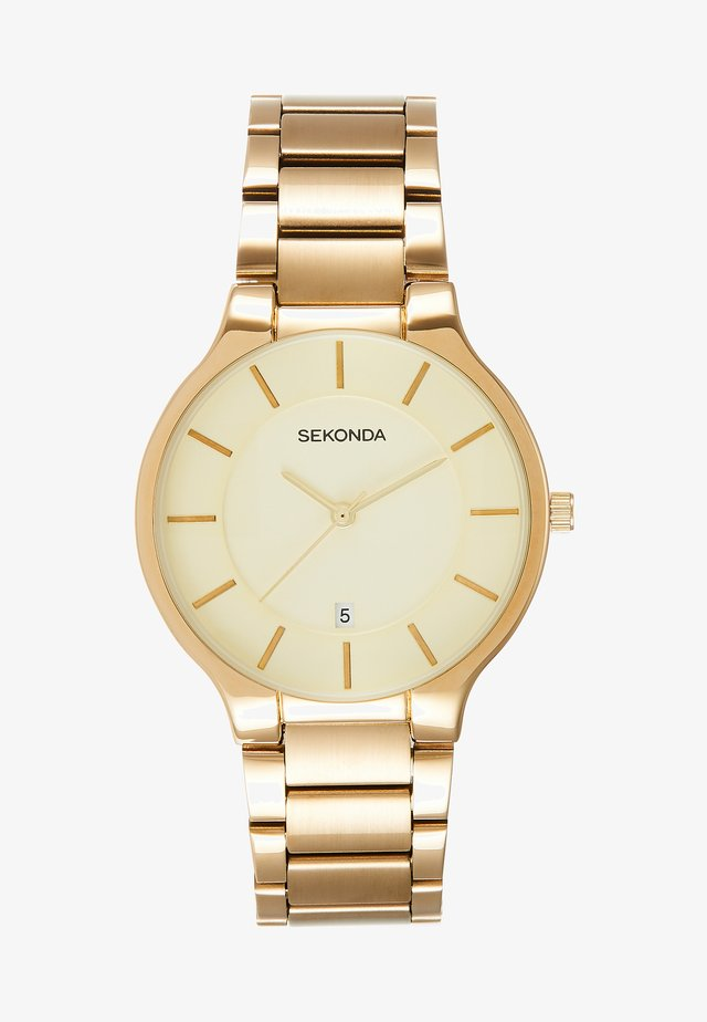 GENTS WATCH ROUND CASE - Rannekello - gold-coloured