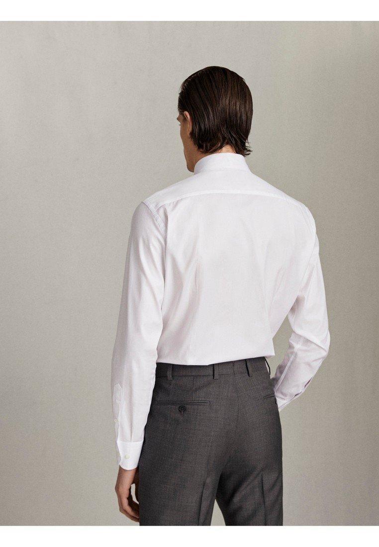 Massimo Dutti SLIM-FIT-HEMD AUS BAUMWOLLTWILL »EASY IRON« 00158258 - Chemise classique - white