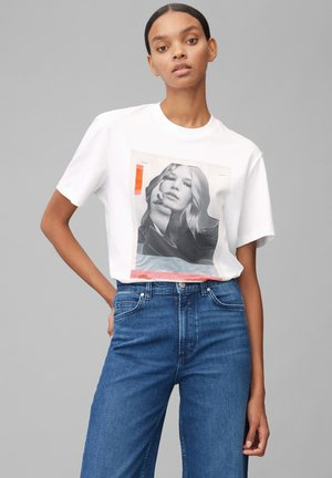 MIT ANNA EWERS FOTO PRINT - Print T-shirt - off-white print