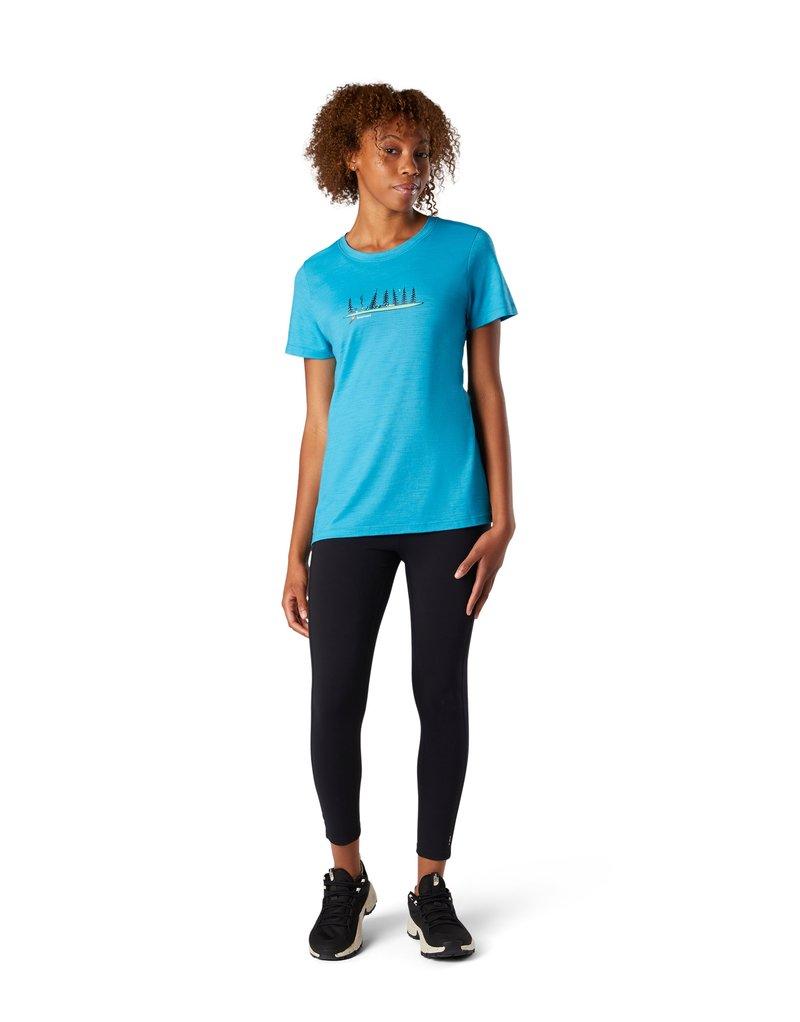Smartwool - Print T-shirt - light ocean abyss heather