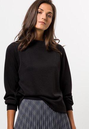 MIT HOHEM KRAGEN - Sweatshirt - black