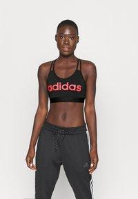 adidas Performance - Sports bra - black/pink - 0