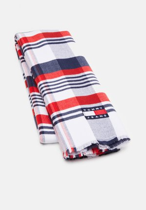 HERITAGE CHECK BLANKET SCARF - Scarf - white