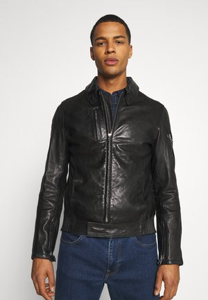 KALEB JACKET - Leather jacket - black