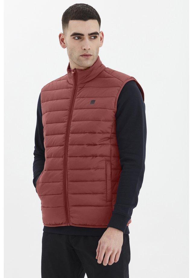 SÖRENSON - Waistcoat - brick red