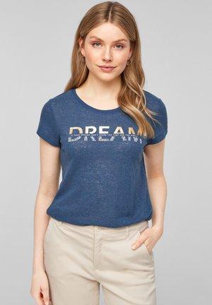 Print T-shirt - faded blue