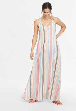 Maxi dress - yellow with red