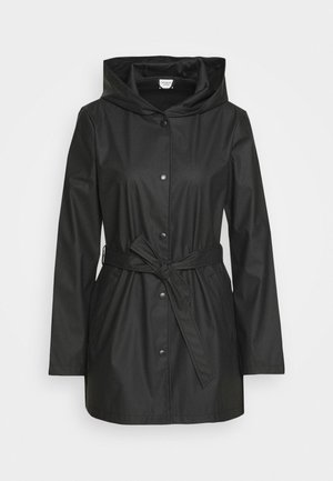JDYSHELBY BELT RAINCOAT - Waterproof jacket - black