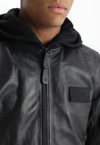 Alpha Industries - Leather jacket - black - 4